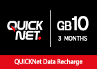 QUICKNet  - 10 GB for 3 Months